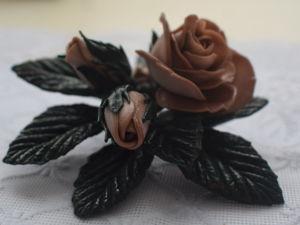 Создаем брошь «Букет двухцветных роз». Ярмарка Мастеров - ручная работа, handmade.
