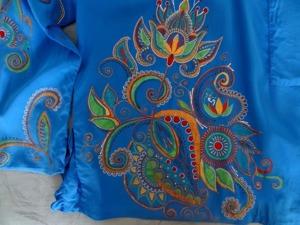 Мастер-класс по точечной росписи шелковой блузки. Ярмарка Мастеров - ручная работа, handmade.