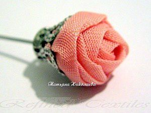 Making a Fabric Rose on a Pin. Livemaster - handmade