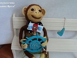 Создание игрушки «Обезьянка Фрося» в технике сухого валяния. Ярмарка Мастеров - ручная работа, handmade.
