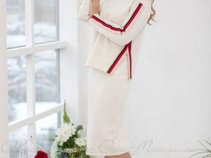 Аукцион на Вязаный костюм в стиле oversize! Старт 3000 руб.!. Ярмарка Мастеров - ручная работа, handmade.