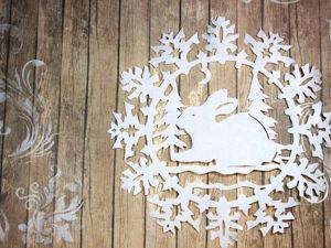 Вырезаем снежинку из бумаги. Ярмарка Мастеров - ручная работа, handmade.