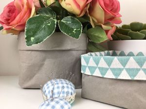 Шьем корзинку из тонкого швейного крафта. Ярмарка Мастеров - ручная работа, handmade.