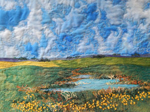 Amazing Patchwork Landscapes by Cindy Hoppe. Livemaster - handmade