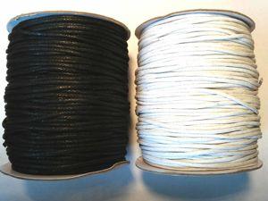 Поступление чёрного вощёного шнура 1 мм, 1,5 мм, 2 мм, 3 мм. Ярмарка Мастеров - ручная работа, handmade.