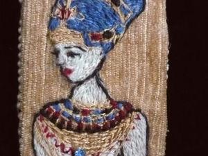 Аукцион на брошь Египтянка вышитая гладью открыт. Ярмарка Мастеров - ручная работа, handmade.