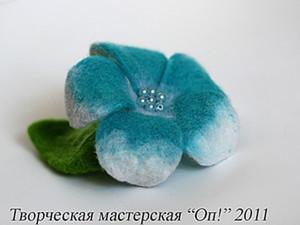 Мастер-класс по валянию цветка плюмерии на каркасе. Ярмарка Мастеров - ручная работа, handmade.