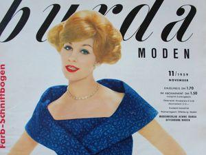 Burda moden — 11/1959- Бурда Моден. Ярмарка Мастеров - ручная работа, handmade.
