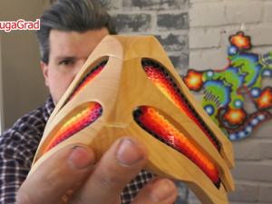Маска на лицо из дерева и термомозаики. Ярмарка Мастеров - ручная работа, handmade.