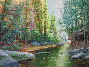 Как рисовать деревья в пейзаже масляными красками. Видеоурок. Часть 2. Ярмарка Мастеров - ручная работа, handmade.