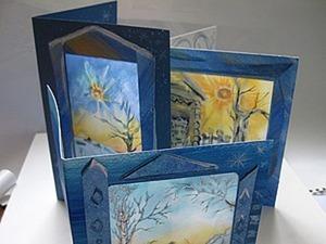 Проводы зимы: открытка с шёлком. Ярмарка Мастеров - ручная работа, handmade.