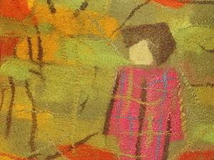 Моя осень: валяние жилета и рисование шерстью. Ярмарка Мастеров - ручная работа, handmade.