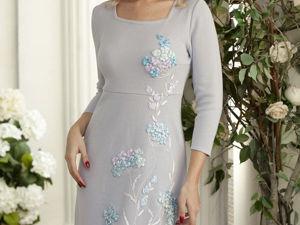 Аукцион на вязаное платье с вышивкой! Старт 3000 р.!. Ярмарка Мастеров - ручная работа, handmade.
