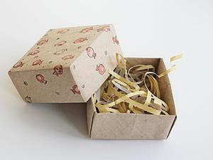 Как за 15 минут сделать коробочку из крафт-бумаги в технике оригами. Ярмарка Мастеров - ручная работа, handmade.