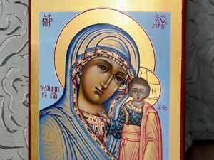 Лотерея на рукописную икону! Мария Петербургская икона. Ярмарка Мастеров - ручная работа, handmade.