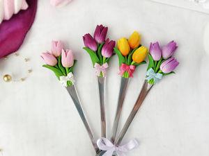 Создаем ложку с тюльпанами из полимерной глины. Ярмарка Мастеров - ручная работа, handmade.