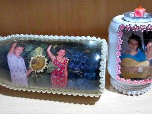 Видео мастер-класс: делаем оригинальную фоторамку из стеклянной банки. Ярмарка Мастеров - ручная работа, handmade.