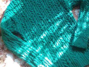 Зеленый мужской свитер из шерсти. Ярмарка Мастеров - ручная работа, handmade.