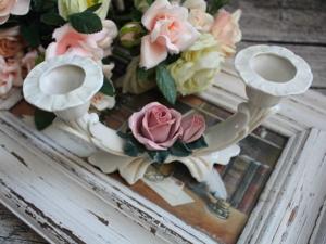 Karl Ens! ОРИГИНАЛ! Подсвечник с розами ручной работы, Германия. Ярмарка Мастеров - ручная работа, handmade.