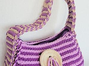 Вяжем летнюю сумочку из пряжи Spagetti. Ярмарка Мастеров - ручная работа, handmade.