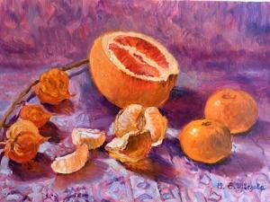 20% скидка! Оранжевая радость — авторский натюрморт. Ярмарка Мастеров - ручная работа, handmade.