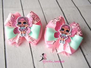 Делаем бантики из репсовых лент с куколками Лол DIY / Bows of rep ribbons with Lol DIY dolls. Ярмарка Мастеров - ручная работа, handmade.