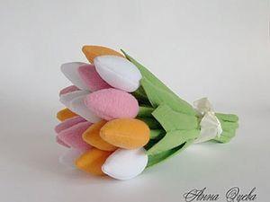 Тюльпаны из ткани: мастер-класс. Ярмарка Мастеров - ручная работа, handmade.