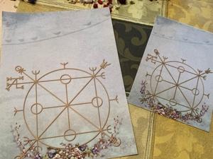 На фетре печать системного рисунка для упражнений с руническим полотном. Ярмарка Мастеров - ручная работа, handmade.