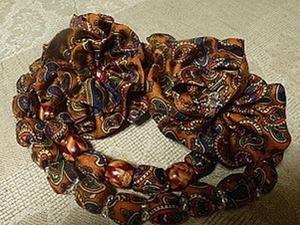 Изготовление броши и бус из павлопосадского лоскута. Ярмарка Мастеров - ручная работа, handmade.