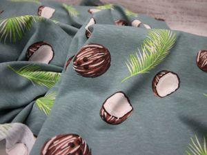 Кулирка кокосы на мятном фоне. Ярмарка Мастеров - ручная работа, handmade.