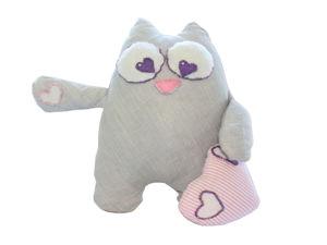 Котик Лулу. Мягкая игрушка своими руками без швейной машинки. Ярмарка Мастеров - ручная работа, handmade.