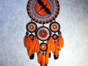 Большой ловец снов  «Дракон» , 116 см. Ярмарка Мастеров - ручная работа, handmade.