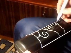 Расписываем лампу. Ярмарка Мастеров - ручная работа, handmade.