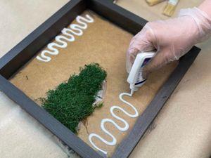 Картина из мха и растений своими рукам. Ярмарка Мастеров - ручная работа, handmade.