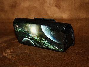 """Чехол для телефона с рисунком """"Космос"""". Ярмарка Мастеров - ручная работа, handmade."""