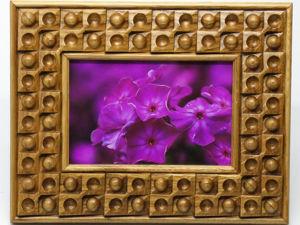 Резная рамка для фотографии 10х15 из массива дуба. Ярмарка Мастеров - ручная работа, handmade.
