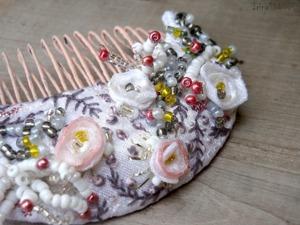 Мастер-класс: гребень невесты «Нежность ранункулюсов». Ярмарка Мастеров - ручная работа, handmade.