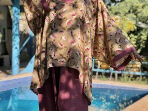 Брючные костюмы из хлопка Мальва и Цветы Вишни. Ярмарка Мастеров - ручная работа, handmade.