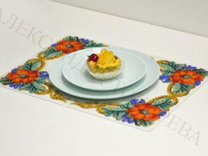 Новинка! Интерьерная, пространственная 3D вышивка бисером на силиконе. Сервировочный декор. Ярмарка Мастеров - ручная работа, handmade.