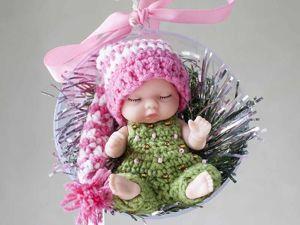 Мастерим новогоднюю игрушку из пупса в шаре «Fix price» за 100 рублей. Ярмарка Мастеров - ручная работа, handmade.
