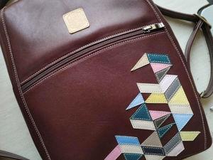 Готовый рюкзак под А4 с аппликацией  «Геометрия»  ищет хозяйку. Рюкзак под ноутбук. Ярмарка Мастеров - ручная работа, handmade.