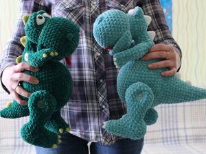 Вяжем плюшевого Динозавра. Ярмарка Мастеров - ручная работа, handmade.