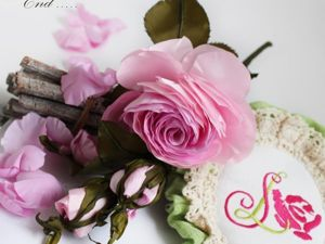 Мастер-класс: роза из тафты «100 лепестков». Ярмарка Мастеров - ручная работа, handmade.
