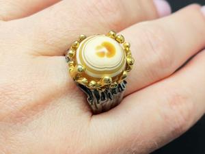 Кольцо с агатом серебряное. Ярмарка Мастеров - ручная работа, handmade.