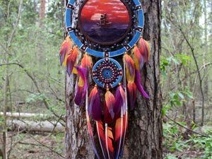 Ловец снов  «Ветер закатов». Ярмарка Мастеров - ручная работа, handmade.
