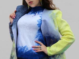 Легкое пальто Ван Гог. Ярмарка Мастеров - ручная работа, handmade.
