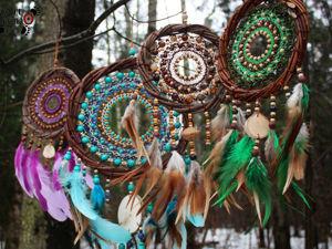 Еще фотографии лесных ловцов снов. Ярмарка Мастеров - ручная работа, handmade.