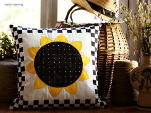 Создаем лоскутную подушку Подсолнух. Ярмарка Мастеров - ручная работа, handmade.