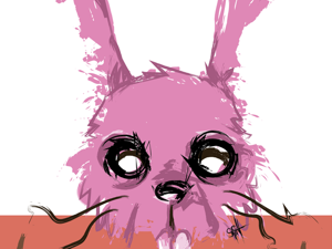День 151. Векторный набросок  «Розовый кролик». Ярмарка Мастеров - ручная работа, handmade.