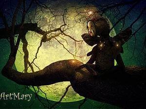 Призрак-бабочка Мотра из старой маски и чехла от швейной машины. Ярмарка Мастеров - ручная работа, handmade.